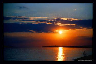 Lake Sunset by DragonSlayer79