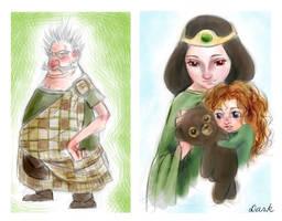Brave sketchs by DarkAngelPandora
