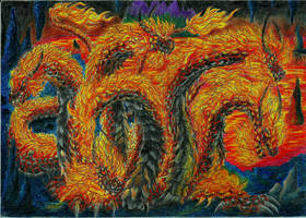 Hydra of fire by kxeron