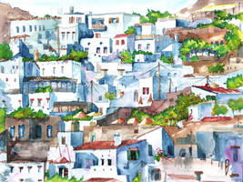 Panorama of Lindos by Zawij