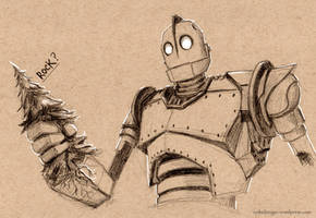 Iron Giant sketch by sydniart