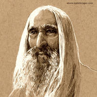 Christopher Lee - Saruman by sydniart