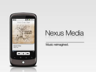 Nexus One Music Player Mockup by Roy911