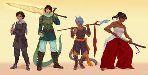 Characters line up commission by yuri-murasaki
