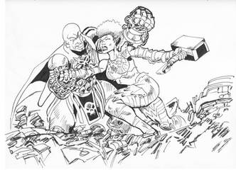 Kaeli vs Orcus by Gotzendammerung