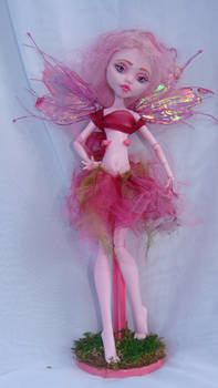 monster high repaint 5 fairy draculaura by phairee004