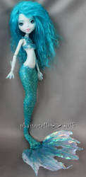Monster high repaint Lagoona Aqua Mermaid by phairee004