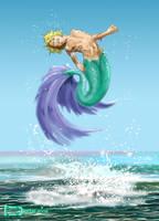 Surfacing Merboy by TWStatonGallery