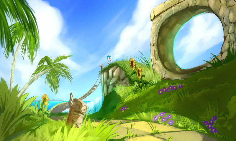 At Green Hill Zone by EVMousser