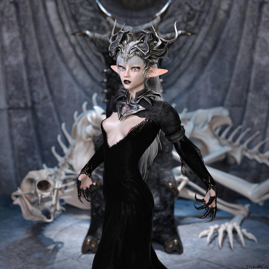 The Necromancer Queen by TritiumCG