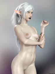 Krit Nude Portrait by TritiumCG