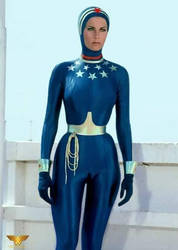 Lynda Carter WW catsuit by spandexsleuth