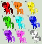 Pony Adopts [Open 9/9] by Llamagal21