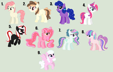 Mlp Adopts: 5-15 point (Glitter Ponies) [OPEN 1/9] by Llamagal21