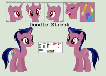 Mlp OC: Doodle Streak by Llamagal21