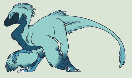 Custom: Blue Raptor (I guess? XD) by Llamagal21