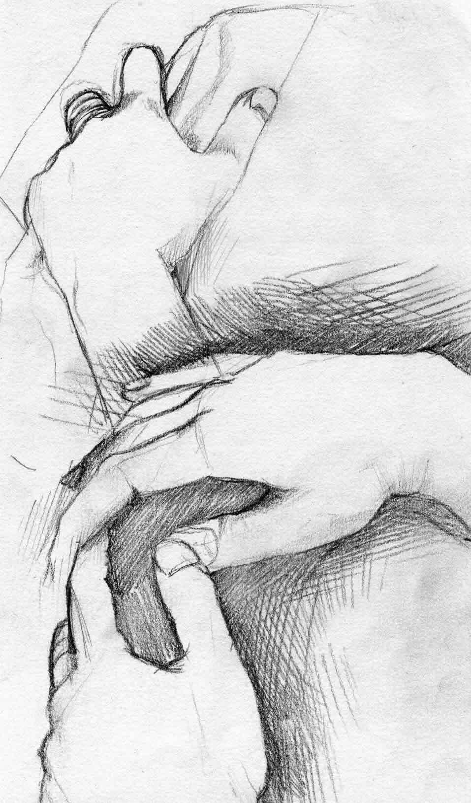 Study of a Hand by melolonta