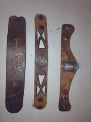 Leatherworking- Wrist Cuffs 2 by Terra-fen