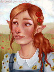 Country Elf by doloresdraws
