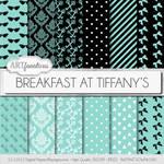 Digital Paper - Breakfast At Tiffany's by Artfanaticus