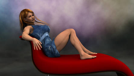 Susanna posing on couch-02 by SturmB