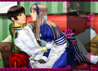 Monochrome couple by Nana-Boshi