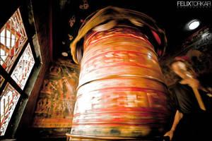 Bodnath Prayer Wheel by FelixTo