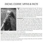 RACHEL CORRIE MYTHS and  FACTS by hamzaz