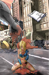 Supergirl K.O by hectorpueyo