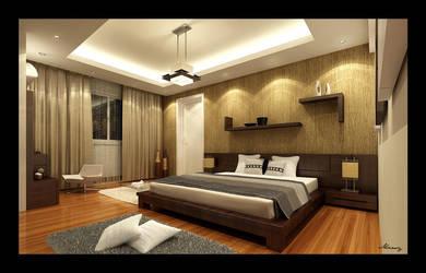 Bed Room Interior 1 by mohamedmansy