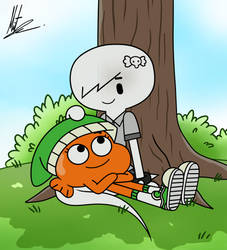 Darwin x Carrie: Under the Tree by RadiumIven