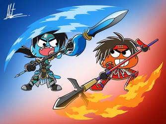 Dynasty Warrior x Samurai Warrior X TAWoG by RadiumIven