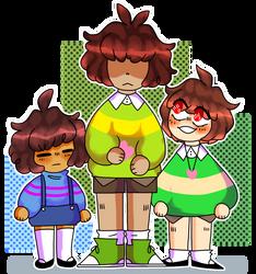 The 3 trio by shubuii