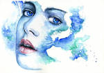 watercolor nymph by proxi-mity