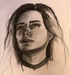 Yenefer sketch by StoneBattleAxe
