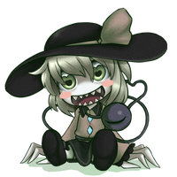 Heart throbbing Koishi by Adeshark