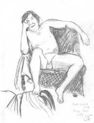 Male Nude Reclining by warlok42