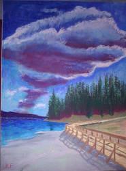 Yellowstone Lake by warlok42