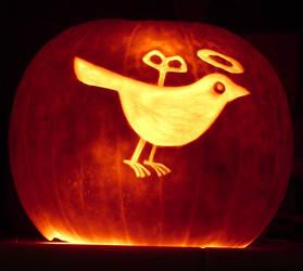 St. Wind-Up Bird Pumpkin by TheDaneOf5683