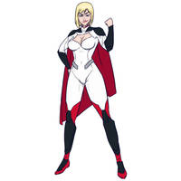 Hero Suit Power Girl by SoDrawnOut