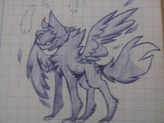 Drew without pencil by FoxBuzan