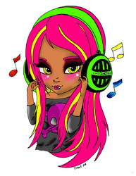 Headphones colored by AbbeyxRosella
