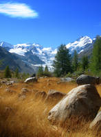 Morteratsch Glacier by kuschelirmel-stock