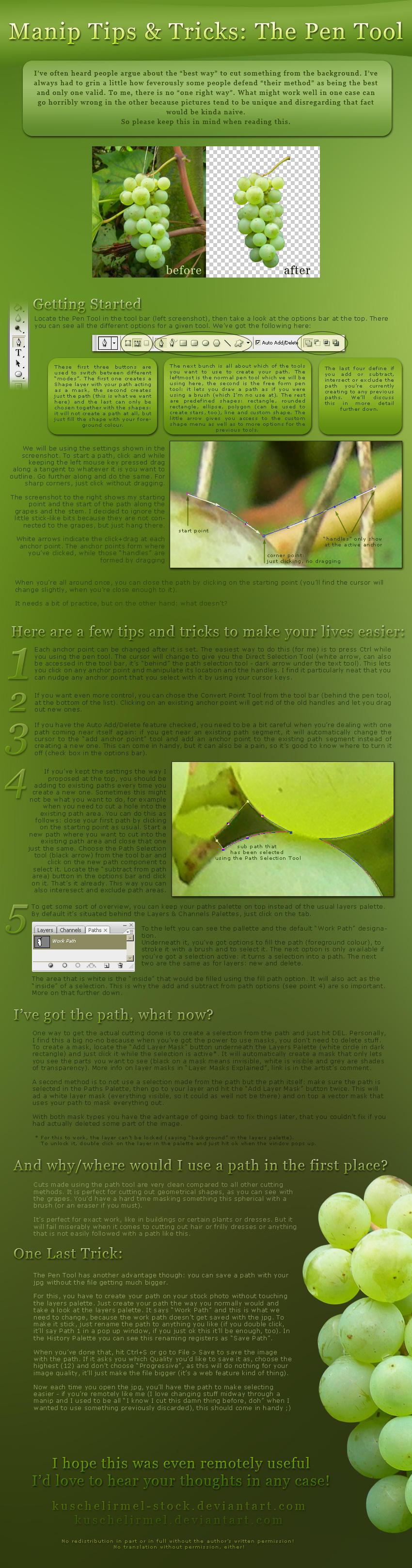 Manip Tips + Tricks: Pen Tool by kuschelirmel-stock
