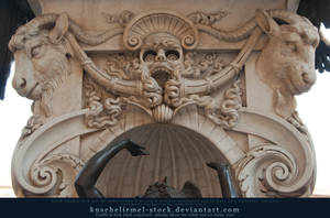 Goat's Head + Skull 1 by kuschelirmel-stock