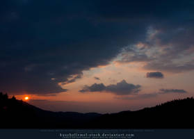 Sunset Sky Stock by kuschelirmel-stock