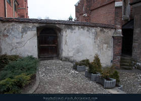 Cobble Stone Path and Back Door by kuschelirmel-stock