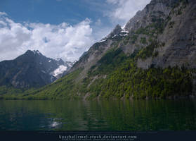 Alpine Lake - Clear Water - Mountains 03 by kuschelirmel-stock