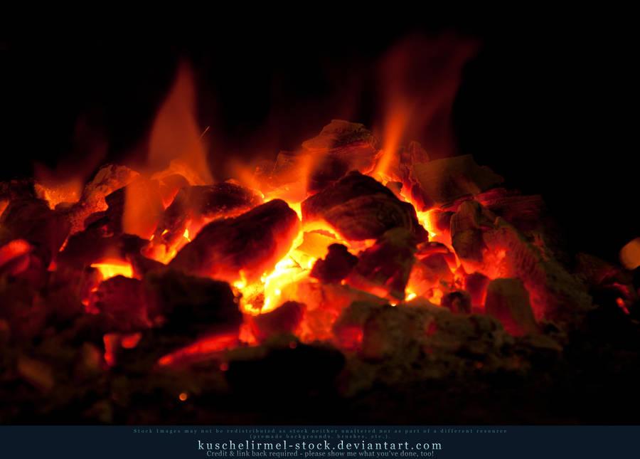 Burning Coal 16 by kuschelirmel-stock