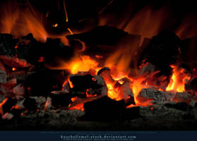 Burning Coal 05 by kuschelirmel-stock